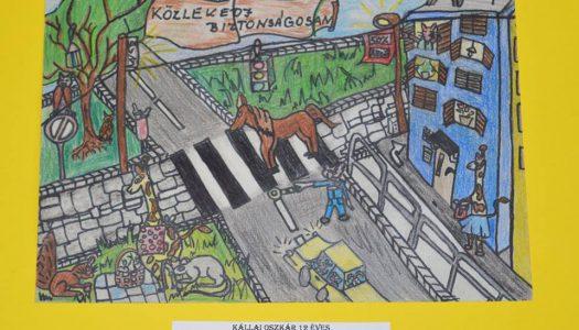Heves megyei gyerekek rajzait díjazta a rendőrség
